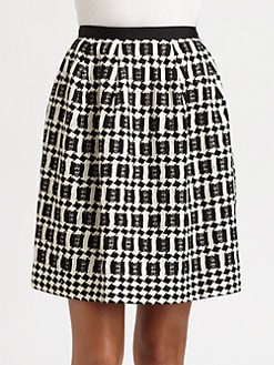 Oscar de la Renta - Silk Diamond Skirt