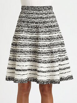 Oscar de la Renta - Silk Crochet Skirt