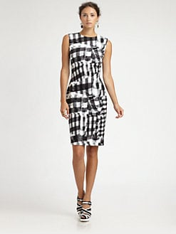 Oscar de la Renta - Gingham Print Dress