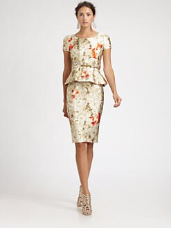 Oscar de la Renta - Peplum Dress