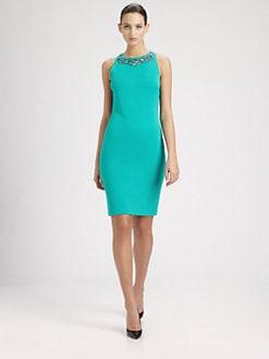 St. John - Beaded Milano Knit Dress