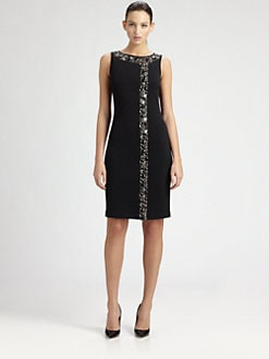 St. John - Jeweled Milano Knit Dress