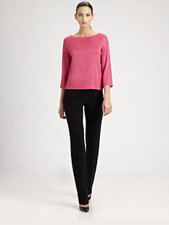 St. John - Shimmer Rib-Knit Sweater