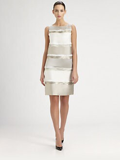 St. John - Beaded Colorblock Dress
