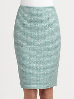 St. John - Space-Dyed Tweed Pencil Skirt