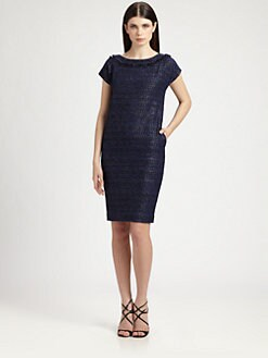 St. John - Graphic Tweed Dress