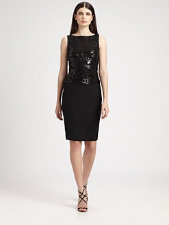 St. John - Knit-In Sequined Dress