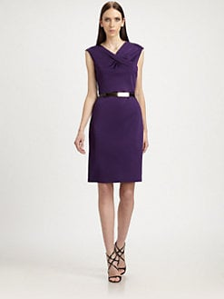 St. John - Drape-Front Dress