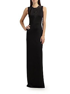 St. John - Sequined Sateen Gown