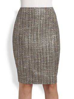 St. John - Metallic Tweed Skirt