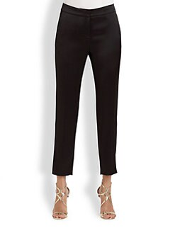 St. John - Cropped Liquid Satin Pants
