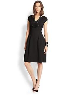 Josie Natori - Cap-Sleeve Jacquard Dress