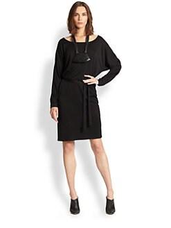 Josie Natori - Belted Jersey Dress
