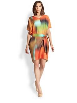 Josie Natori - Silk Twill Wedge Dress