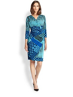 Josie Natori - Printed Jersey Knot Dress