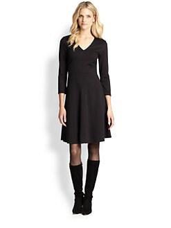 Josie Natori - Ponte V-Neck Dress
