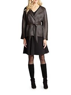 Josie Natori - Chintz Tie-Front Jacket