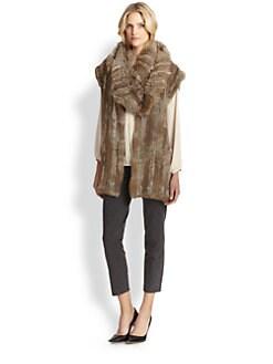 Josie Natori - Knitted Fur Vest