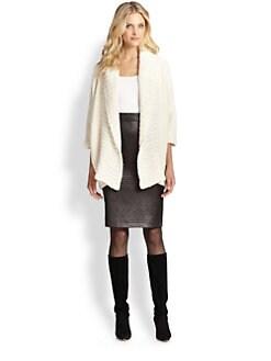 Josie Natori - Alpaca & Silk Chunky-Knit Sweater