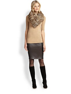 Josie Natori - Merino Wool Short-Sleeve Turtleneck