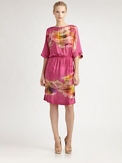 Josie Natori - Silk Caftan Dress