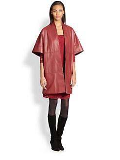Josie Natori - Leather Coat