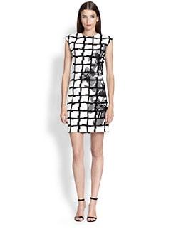 Josie Natori - Printed Embellished Dress