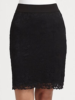 Josie Natori - Dahila Lace Pencil Skirt