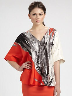 Josie Natori - Silk Butterfly Top
