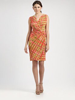Josie Natori - Printed Drape Dress