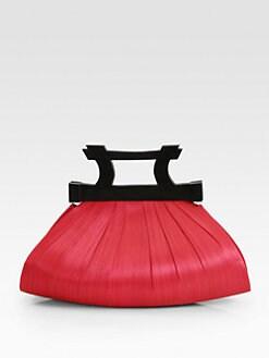 Josie Natori - Dark-Wood Buntal Bag