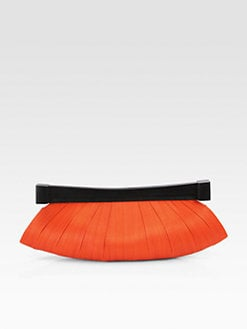 Josie Natori - Buntal/Dyed Wood Clutch
