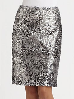 Josie Natori - Sequined Print Skirt