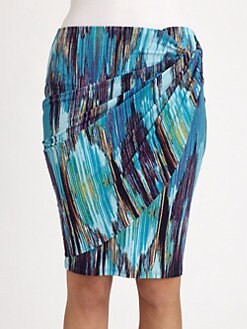 Josie Natori - Printed Draped Skirt