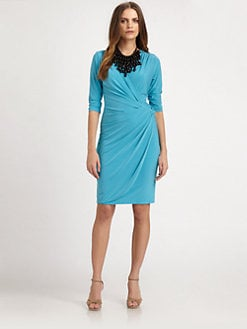 Josie Natori - Knit Wrap Dress