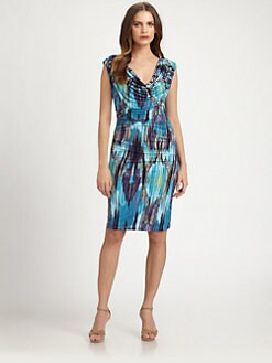 Josie Natori - Printed Jersey Dress