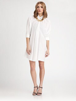 Josie Natori - Cotton/Silk Shirtdress