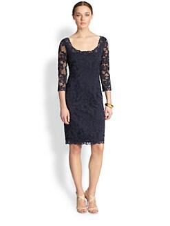Josie Natori - Scoopneck Lace Dress