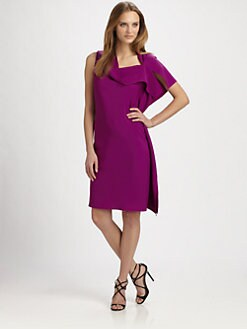 Josie Natori - Draped One-Shoulder Dress
