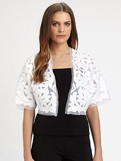 Josie Natori - Embroidered Jacket