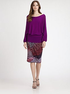 Josie Natori - Cutout-Back Sweater
