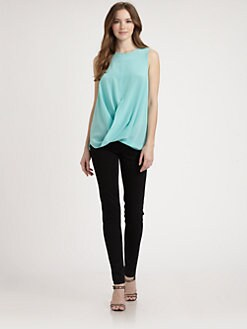 Josie Natori - Silk Crisscross Blouse