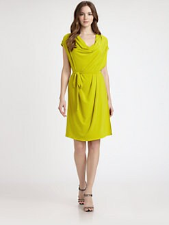 Josie Natori - Jersey Cowlneck Dress
