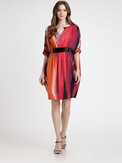 Josie Natori - Printed-Jersey Embellished Dress