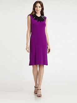 Josie Natori - Draped-Back Jersey Dress