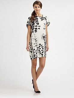 Josie Natori - Silk Printed Dress
