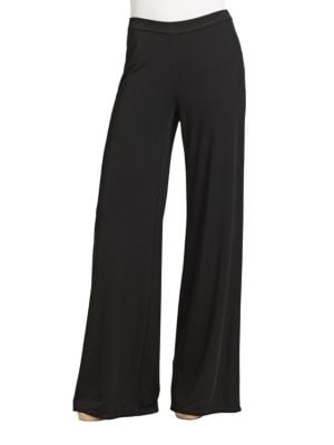 Stretch Knit Wide-Leg Pants