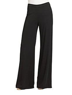 Josie Natori - Stretch Knit Wide-Leg Pants
