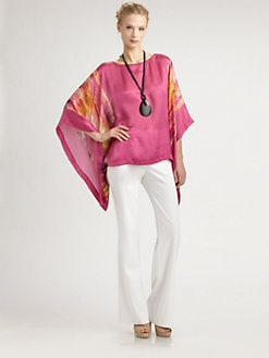 Josie Natori - Silk Caftan Top