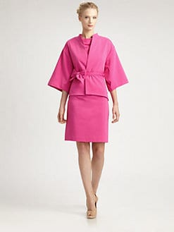 Josie Natori - Mandarin-Collar Jacket